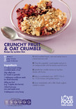 Student-friendly recipe,crunchy fruit and oat crumble