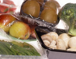 Fruit and vegetables in packaging