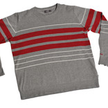 Men's grey striped jumper