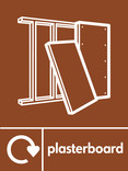 Plasterboard signage - plasterboard icon with logo (portrait)