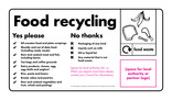 Caddy liner artwork - Food waste collections