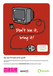Don't Bin it Bring it - A3 poster for TVs (with digital mark)