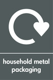 Household metal packaging (cans & foil) signage - logo (portrait)