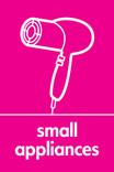 Small Appliances signage - hairdryer icon (portrait)