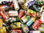 Assorted drinks cans