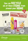 Recycle for London - Unusual Suspects - Glass and Metal - Press Adverts