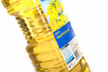 Plastic bottle of vegetable oil