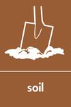 Soil signage - soil icon (portrait)