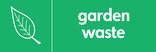Garden waste signage - leaf icon (landscape)