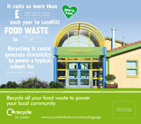 Recycle for London - Food recycling - Local benefit vehicle livery (square) - School