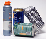 Aerosol can, beer can, foil tray, food tin