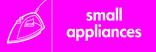 Small Appliances signage - iron icon (landscape)