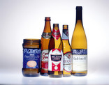 Assorted glass packaging - brown glass