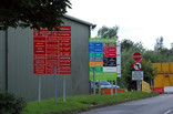 Signage at Recycle for Staffordshire recycling centre