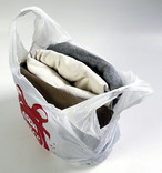 Carrier bag of clothes
