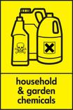 Household & garden chemicals signage - poison bottles icon (portrait)
