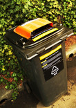 Aluminium foil recycling wheelie bin