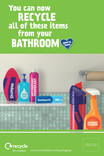 Recycle for London - Good to Know bathroom multi material poster 6 Sheet