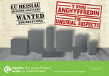 Unusual Suspects Paper and Card A5 bilingual leaflets - Welsh-English