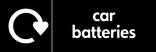 Car batteries signage - Logo (landscape)