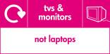 TVs & Monitors (not laptops) signage - TV icon with logo (landscape)