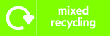 Mixed recycling icon - logo (landscape)