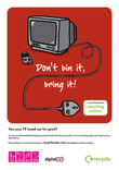 Don't Bin it Bring it - A4 poster for TVs (with digital mark)