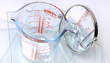 Kitchen and household glass - Pyrex jug, placemats, mirror