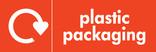 Plastic packaging signage - logo (landscape)