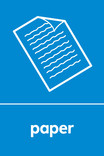 Paper signage - paper icon (portrait)