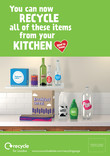Recycle for London - Good to Know kitchen multi material poster A4