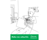 Colour In Poster A4 - comic