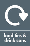 Food tins and Drink cans signage - logo (portrait)