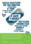 Good to Know - poster templates - transformation message - metal (drink can) - energy saved (TV 4 hrs) - builingual - Welsh first