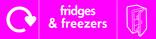 Fridges & Freezers signage - fridge icon with logo (landscape)