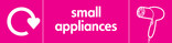 Small Appliances signage - hairdryer icon with logo (landscape)