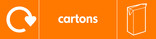 Cartons signage - carton icon with logo (landscape)