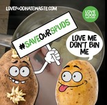 Save Our Spuds Campaign - 'Don't Bin Me' Banner - English and Welsh