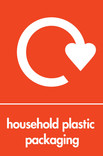 Household plastic packaging (with film) signage - logo (portrait)