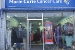 Marie Curie Cancer Care charity shop front