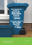Good to Know - Bilingual Plastics A5 leaflet - House & Wheelie bin front covers (Welsh first)