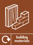 Building Materials signage - Materials icon with logo (portrait)