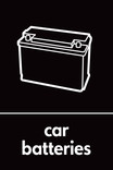Car batteries signage - Battery icon (portrait)