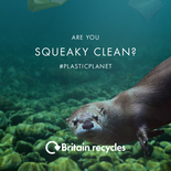 'Are you squeaky clean?' bathroom recycling - range of static images