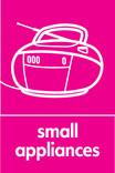 Small Appliances signage - radio icon (portrait)
