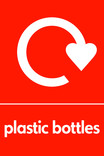 Plastic bottles icon - logo (portrait)