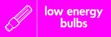 Low energy bulbs signage - bulb icon (landscape)