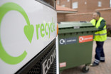 Recycling lorry and bring bank