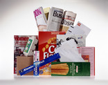 Assorted paper and card