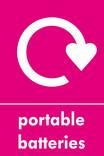 Portable Batteries signage - logo (portrait)